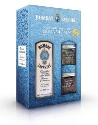Bombay Sapphire 70cl Giftset With Botanicals