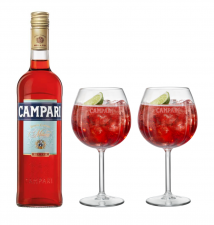 Campari 70cl With Two Free Campari G&T Glasses